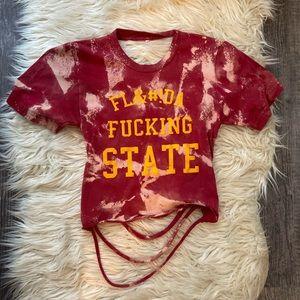 FSU Florida state game day shredded shirt